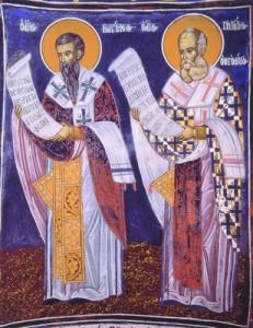 Святые Василий Великий и Григорий Богослов