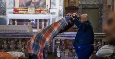 На время холодов римская церковь Святого Каликста предоставила ночлег для бездомных