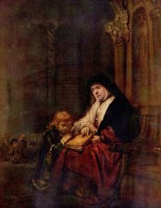 Рембрандт. Тимофей и его бабушка