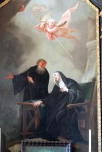 Святая Схоластика и святой Бенедикт