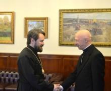 Кардинал Анджело Баньяско встретился смитрополитом Иларионом (Алфеевым)