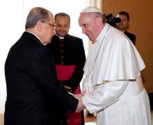 Папа обсудил ситуацию на Ближнем Востоке с президентом Ливанской Республики