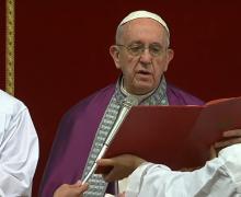 Папа Франциск возглавил покаянное богослужение в базилике Святого Петра