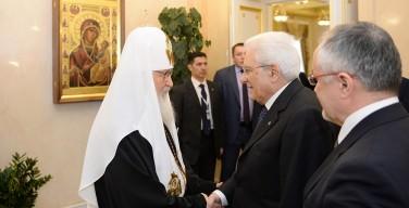 Русская и Католическая Церкви должны остановить противостояние Востока и Запада — Патриарх Кирилл на встрече с президентом Италии