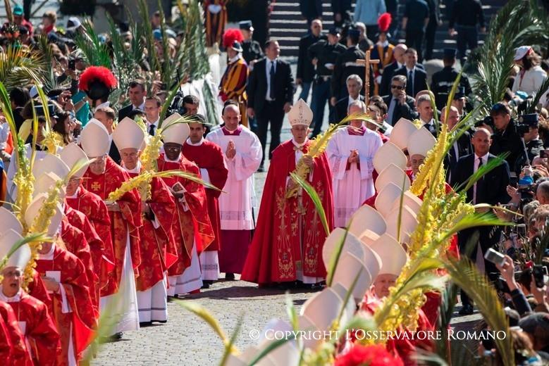 Вербное воскресенье на площади Святого Петра в Ватикане