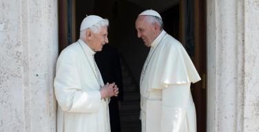 Папа Франциск посетил Папу Бенедикта XVI