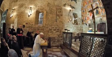 Послание Папы на открытие святилища Отречения от мирских благ в Ассизи