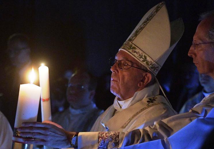 Проповедь Папы Франциска в Пасхальную ночь. 15 апреля 2017 г., собор Св. Петра