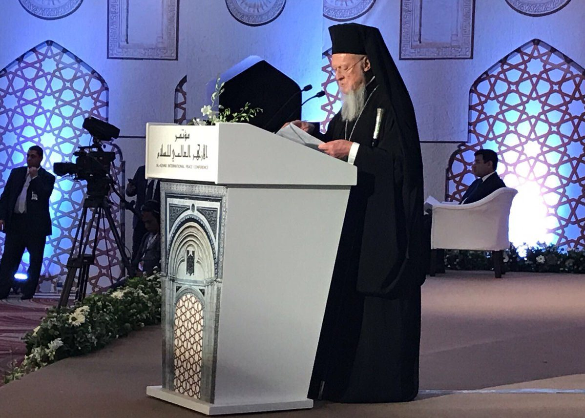 Вселенский Патриарх подчеркнул, что роль религии – нести мир, а не раздоры