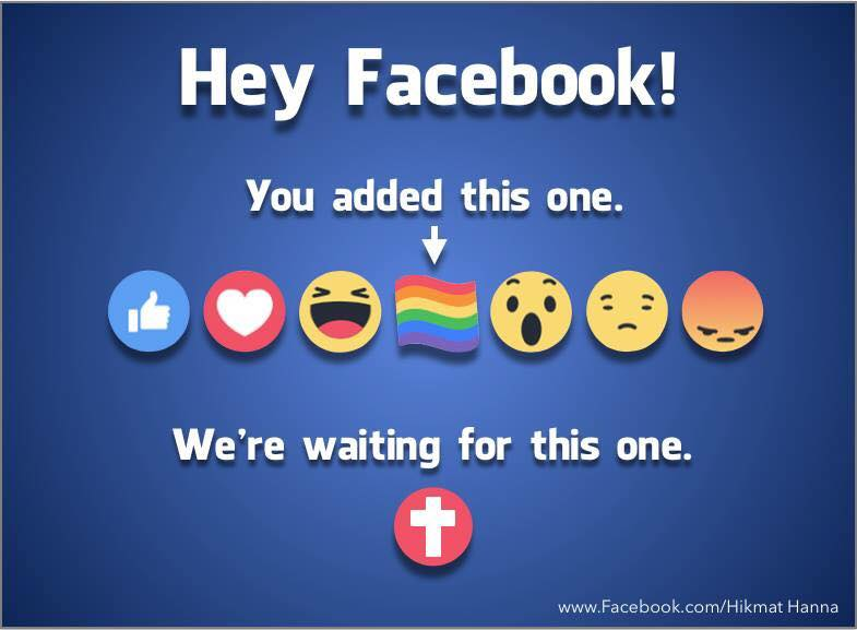 Facebook не разрешила христианам ставить лайки в виде креста