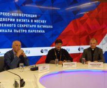 Пресс-конференция в преддверии визита в Москву госсекретаря Ватикана кардинала Пьетро Паролина