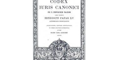 Послание Папы к столетию первого Кодекса канонического права