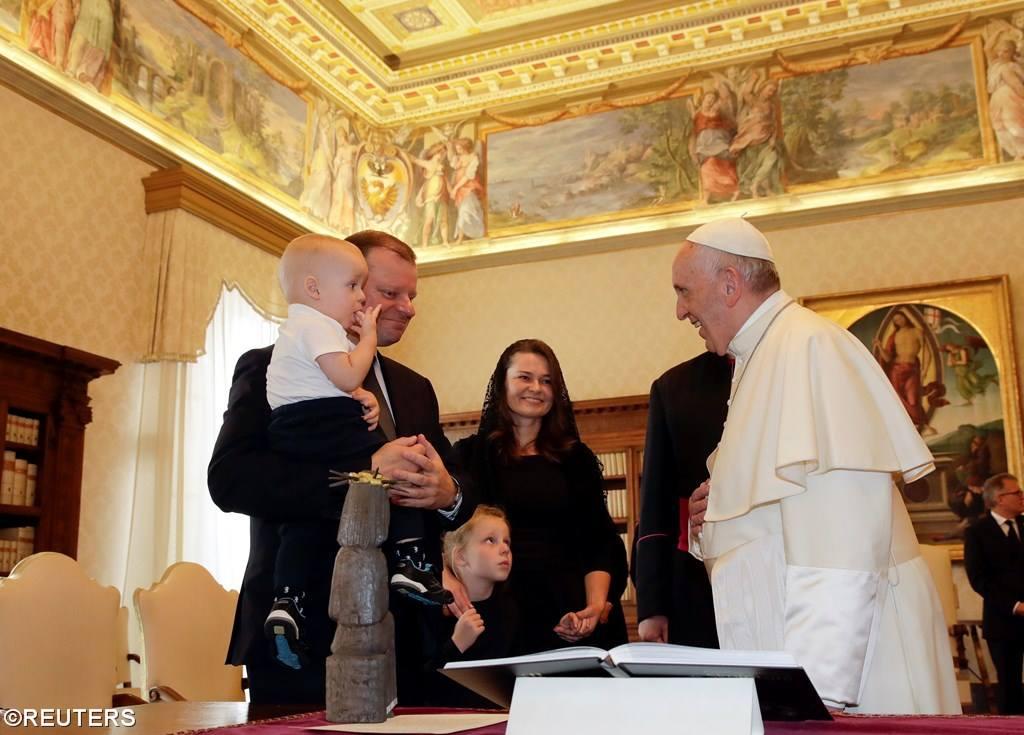 Папа встретился премьер-министром Литовской Республики