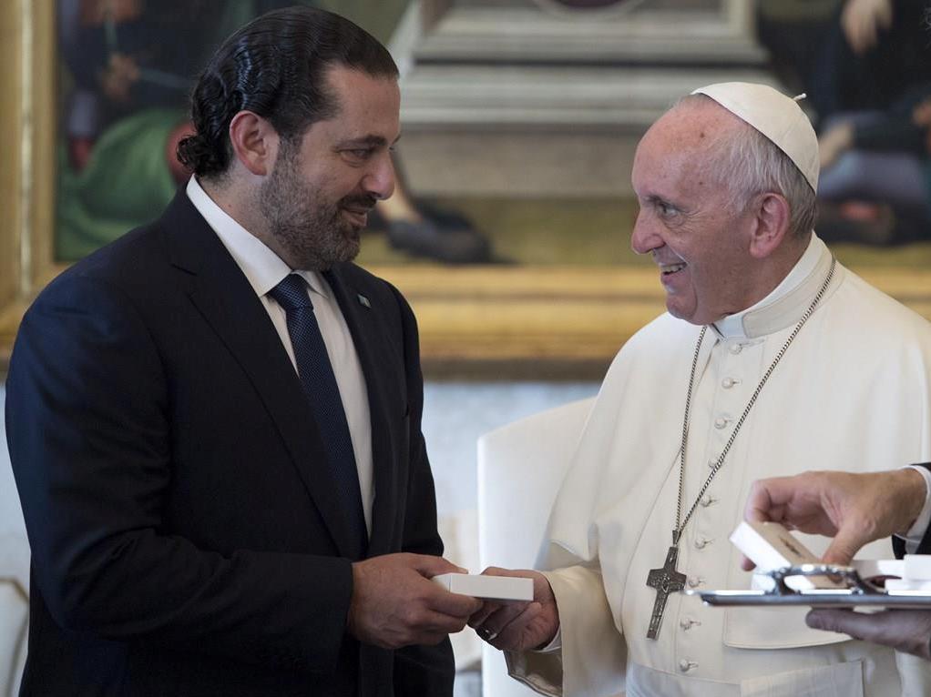 Папа встретился с премьер-министром Ливана