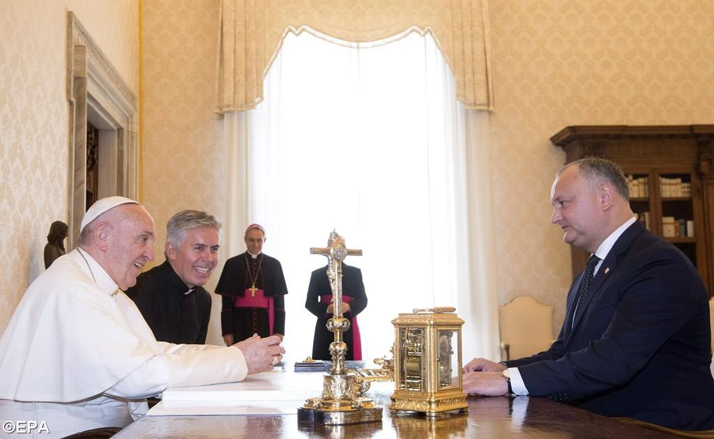 Папа встретился с президентом Республики Молдовы (ФОТО)