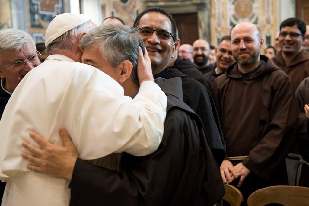 Семья францисканцев у Папы Франциска: «Пусть все называются меньшими» (+ ФОТО)