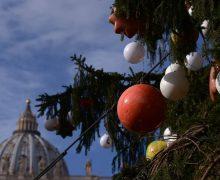 Папа встретился с делегациями, доставившими в Ватикан рождественскую ель и ясли (ФОТО)