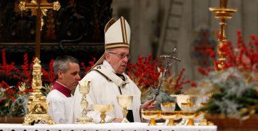 Проповедь Папы Франциска на Ночной Мессе Рождества. 25 декабря 2017г., собор Св. Петра