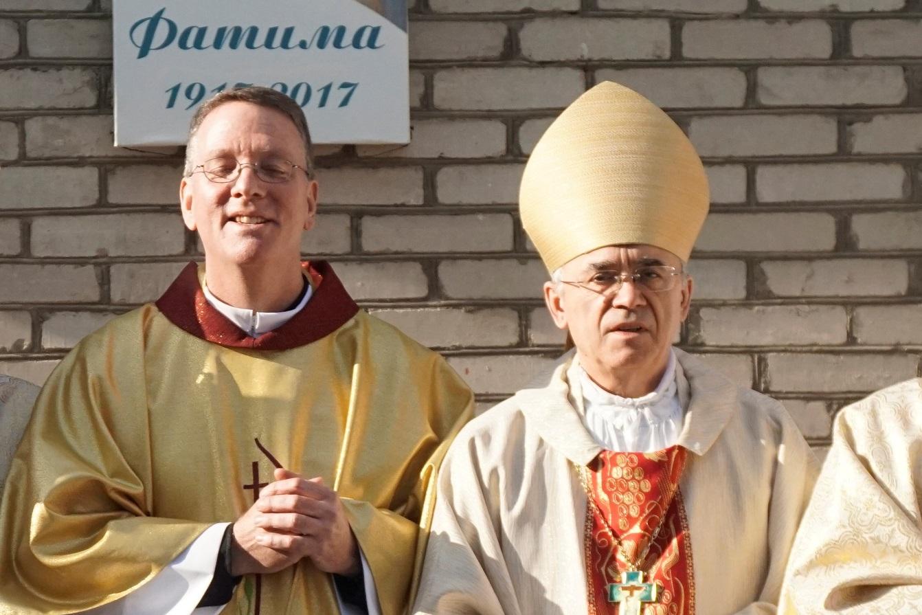 Проповедь епископа Иосифа Верта в Бишкеке на ингресс о. Энтони Коркорана, SJ