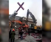 В Китае разрушили второй за месяц католический храм (ВИДЕО)