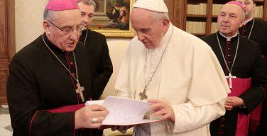 Белорусские епископы в Ватикане: «Папа мечтает приехать в Беларусь» (+ ФОТО)