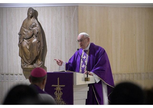 Папа Франциск на Мессе в Доме св. Марфы рассказал о подлинных целях поста