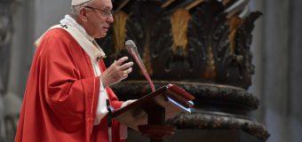 Проповедь Папы Франциска на Мессе торжества Пятидесятницы.  20 мая 2018 г., собор Св. Петра