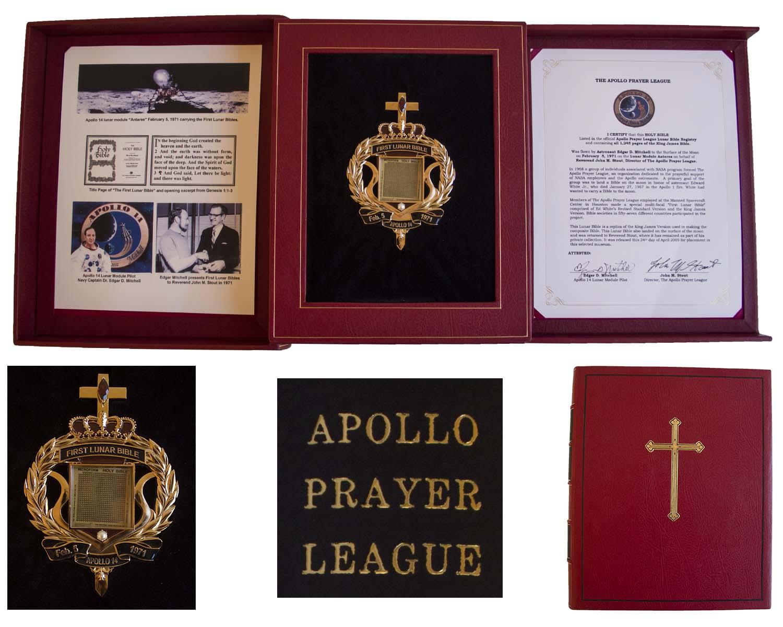 Побывавшая на Луне Библия выставлена на аукцион в США