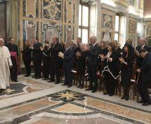 Папа встретился с меценатами Ватиканских музеев
