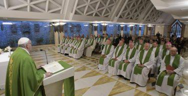 На Мессе в Доме Св. Марфы Папа Франциск размышлял о свойствах христианского свидетельства